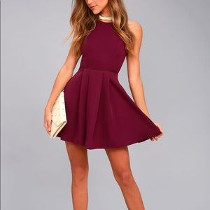 NWT Lulu's Party Hop Backless Skater Dress Small